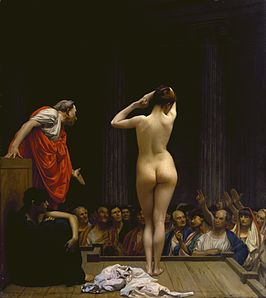 266px-Jean-Léon_Gérôme_-_A_Roman_Slave_Market_-_Walters_37885